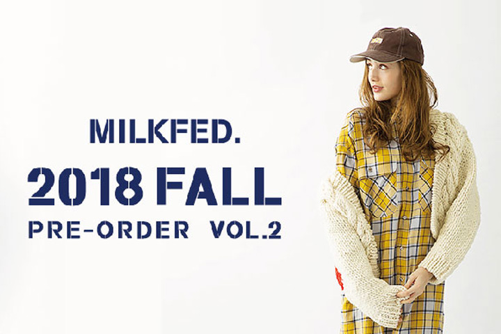 オンラインストア「2018 FALL COLLECTION PRE ORDER Vol.2 」